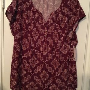 NWT women's PLUS casual blouse. Easy care